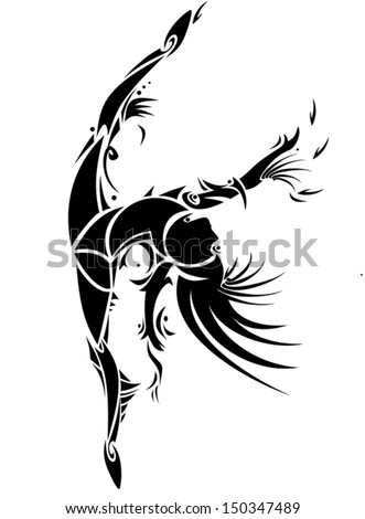 Abstract dancing girl - stock vector