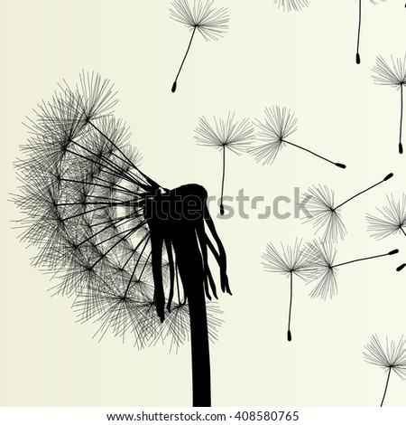 Abstract dandelion background vector Illustration spring concept