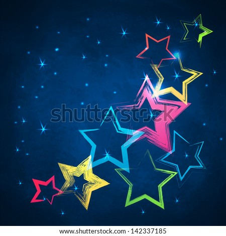 Abstract dark background with grunge brush strokes triangles for your web design - stock vector