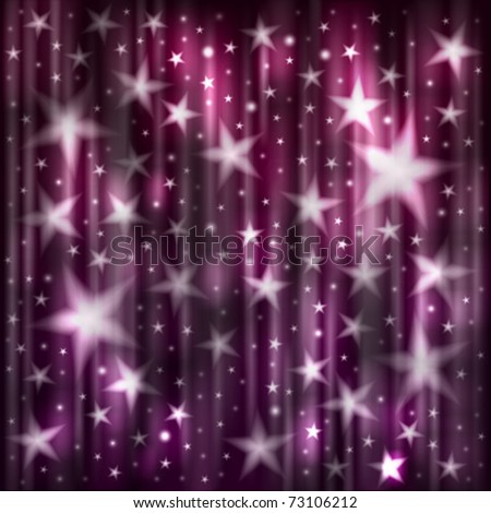 Abstract dark background with stars - stock vector