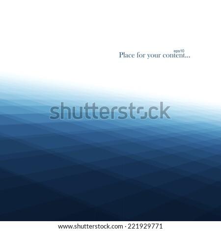Abstract dark blue background, vector eps10 - stock vector