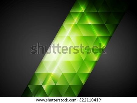 Abstract dark corporate background with bright triangles. Vector pattern design - stock vector