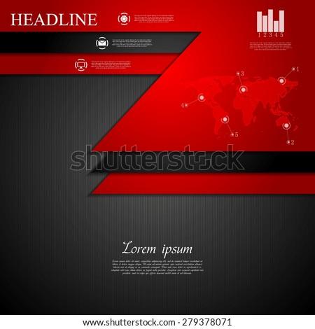 Abstract dark corporate tech background. Vector design - stock vector