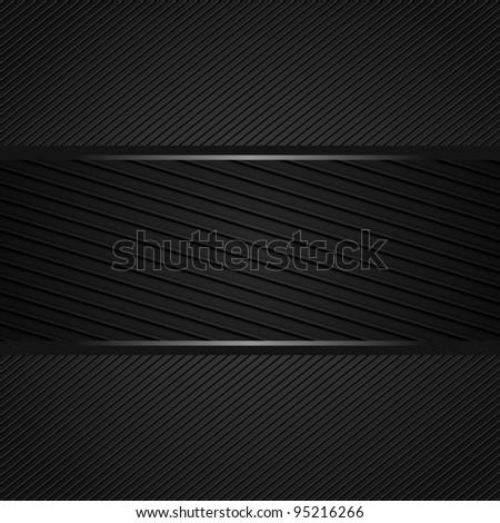 Abstract dark gray background - stock vector