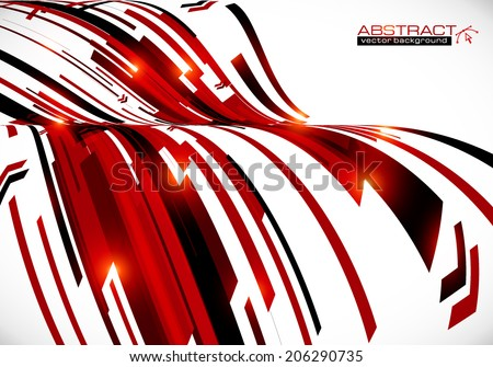Abstract dark red curves vector background - stock vector
