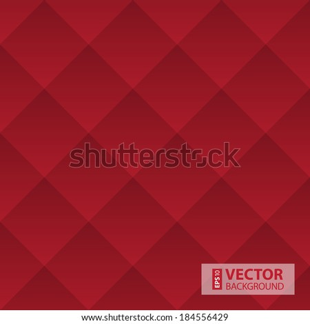 Abstract dark red geometric squares pattern. RGB EPS 10 vector illustration - stock vector