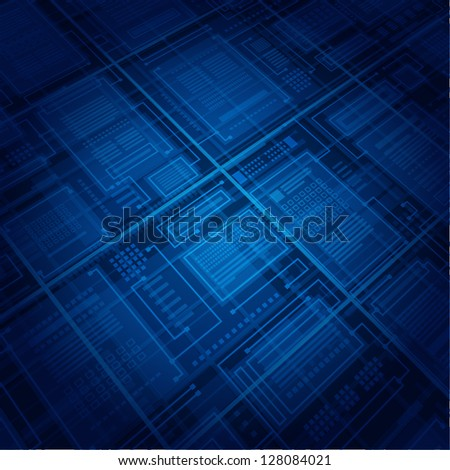 Abstract database vector background - stock vector