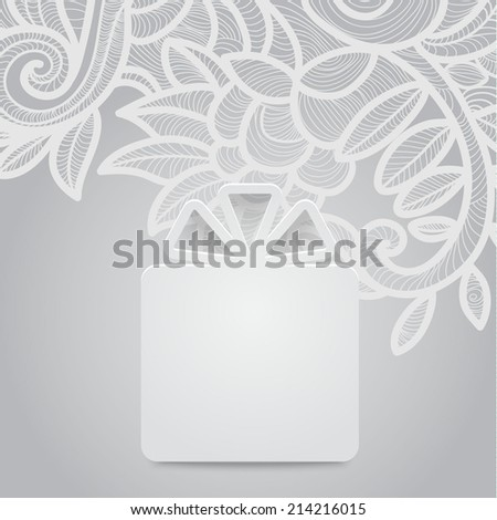 Abstract decoration, greeting card with ornate detailed ornament. Template frame design for gift card. Useful for packaging, invitations, decoration, bag template, etc - stock vector