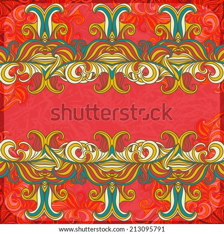 Abstract decoration vintage background with space for your text. Suitable for various designs, invitation, thank you card, save the date cards and scrapbooking. Vector illustration. - stock vector