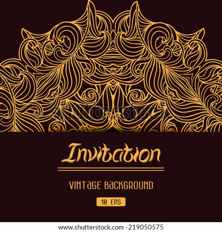 Abstract decoration vintage background with space for your text. Suitable for various designs, invitation, thank you card, save the date cards and scrapbooking. Vector Christmas backdrop 10 EPS - stock vector