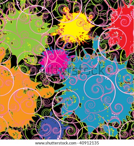 abstract decorative design with splash