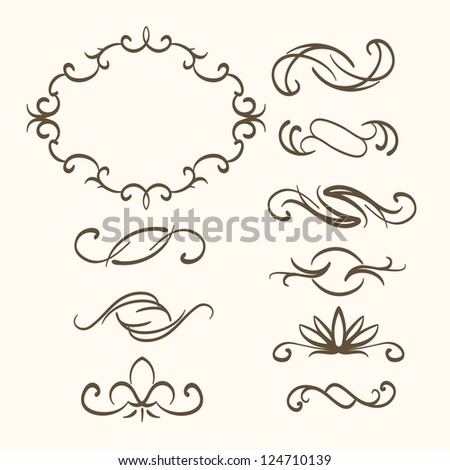 abstract decorative elements - stock vector