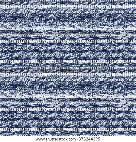 Abstract decorative noisy hatching striped motif. Seamless pattern. - stock vector