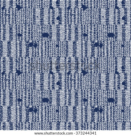 Abstract decorative noisy strokes and grunge dots. Seamless pattern. - stock vector