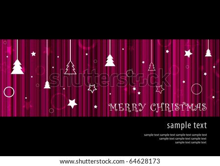 Abstract deep purple Merry Christmas background card design (eps10) - stock vector