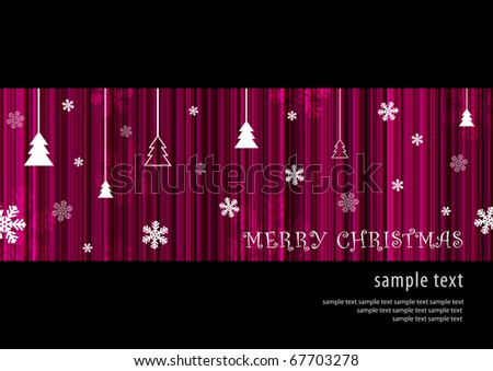 Abstract deep purple Merry Christmas card background (eps10) - stock vector