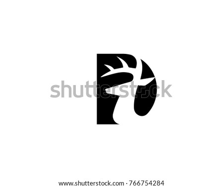 Abstract Deer Head Logo Inside Alphabet Stock Vector Hd Royalty