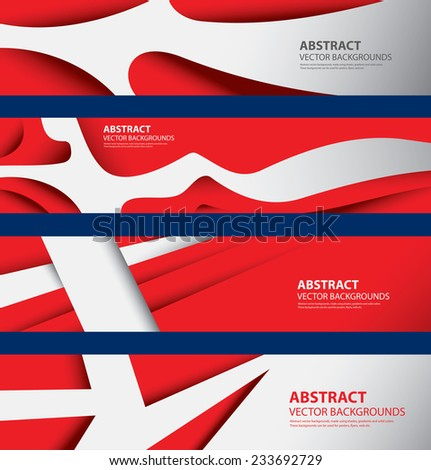 Abstract Denmark Flag, Estonian Danish Colors, Info graphics Background (Vector Art)
