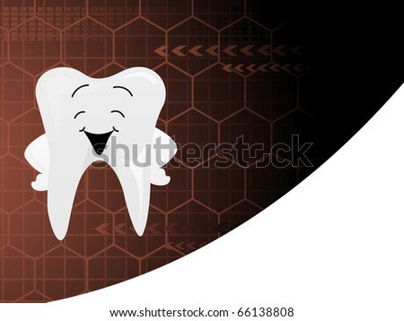 abstract dental background, vector illustration - stock vector