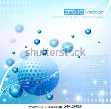 Abstract depth of field background composition. Vector illustration - stock vector