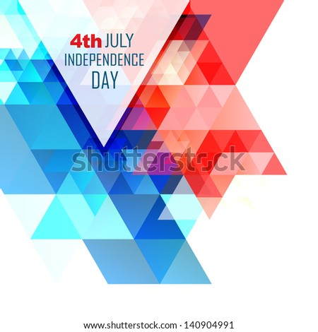 abstract design american independence day - stock vector
