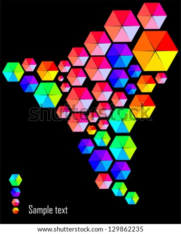 Abstract design background - stock vector