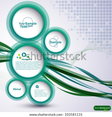 Abstract design bubble background, vector - stock vector