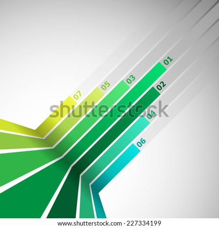 Abstract design element with green lines, stock vector - stock vector