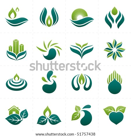 abstract design elements collection - stock vector