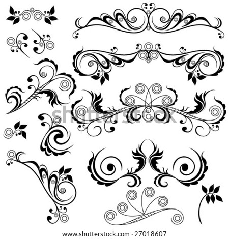 Abstract design elements. vector. - stock vector