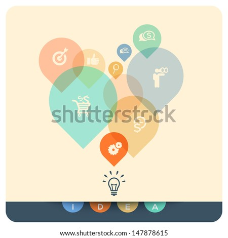 Abstract Design Idea Concept Illustration - stock vector