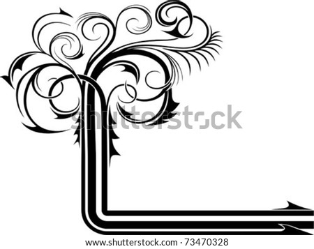 Abstract design of a background with a ornament. - stock vector