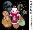 Abstract design of urban Spraypaint city Street hip hop - stock vector