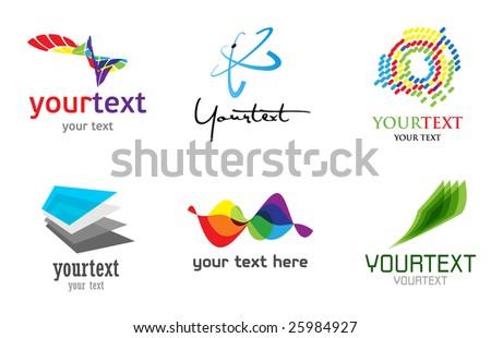abstract design set - stock vector