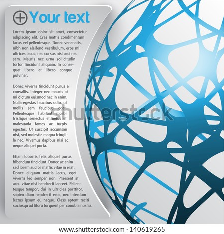 Abstract design template - stock vector