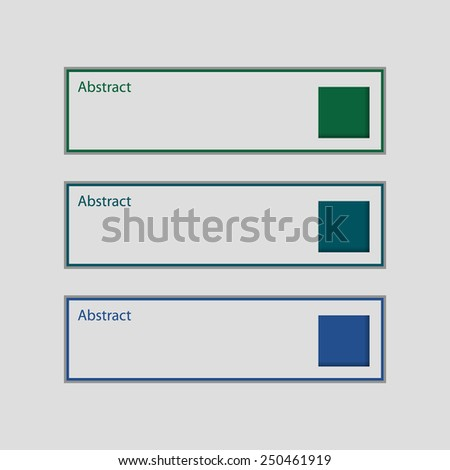 Abstract Design template banners. - stock vector
