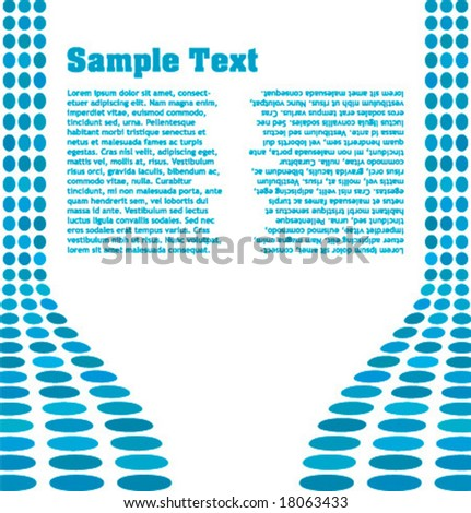 Abstract design template with sample text - stock vector