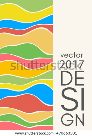 Abstract design templates. Brochures unusual color shapes style. Vintage frames and backgrounds. Vector Illustration.