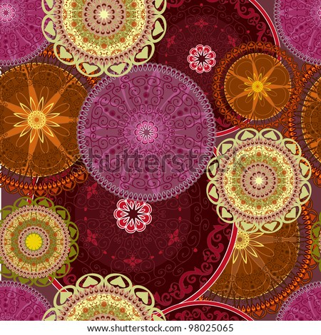 abstract design with arabesques seamless - stock vector