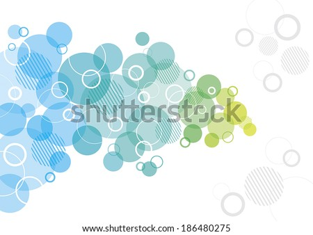 Abstract Design with circles - stock vector