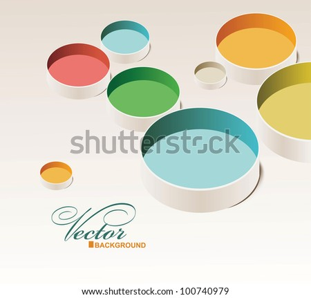 Abstract design with paint - stock vector