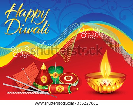 abstract detailed diwali background vector illustration - stock vector