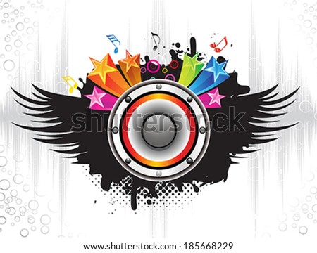 abstract detailed musical background vector illustration