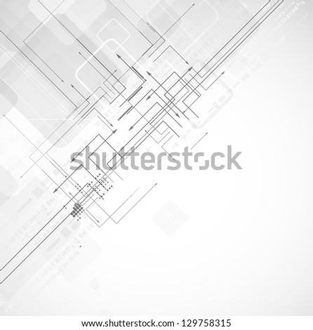 abstract diagonal circuit computer high technology business background - stock vector