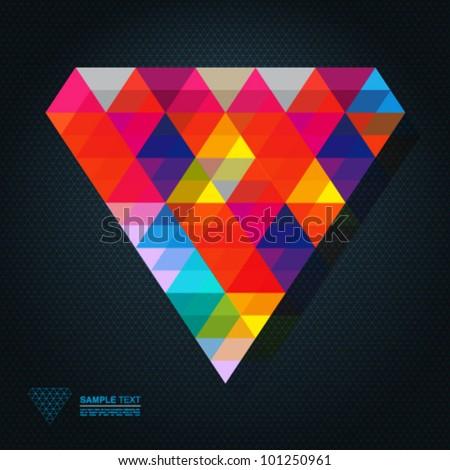 Abstract diamond - stock vector