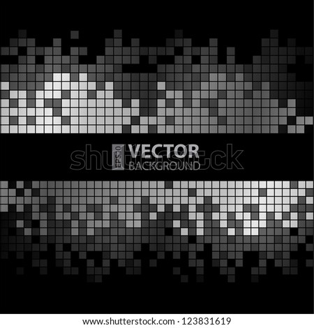 Abstract digital background with colorful pixels equalizer - stock vector