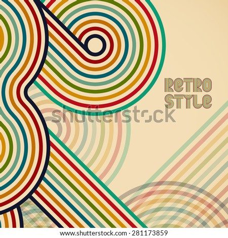 Abstract digital circles retro vector background - stock vector