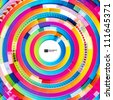 Abstract digital circles vector background - stock vector