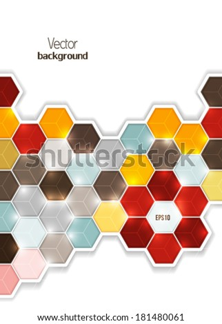 Abstract digital color background. Vector - stock vector