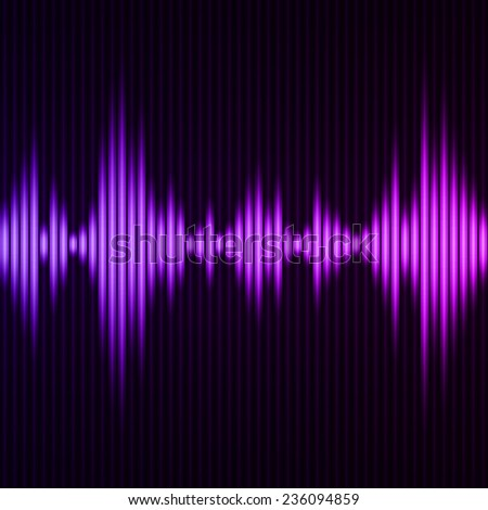 Abstract digital equalizer. Abstract waveform background. Vector illustration
